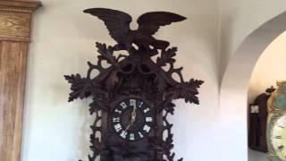 Huge 3 Foot Black Forest Antique Cuckoo Clock Circa 1890