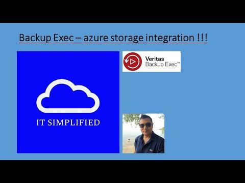 Backup Exec16 -  Azure storage Integration
