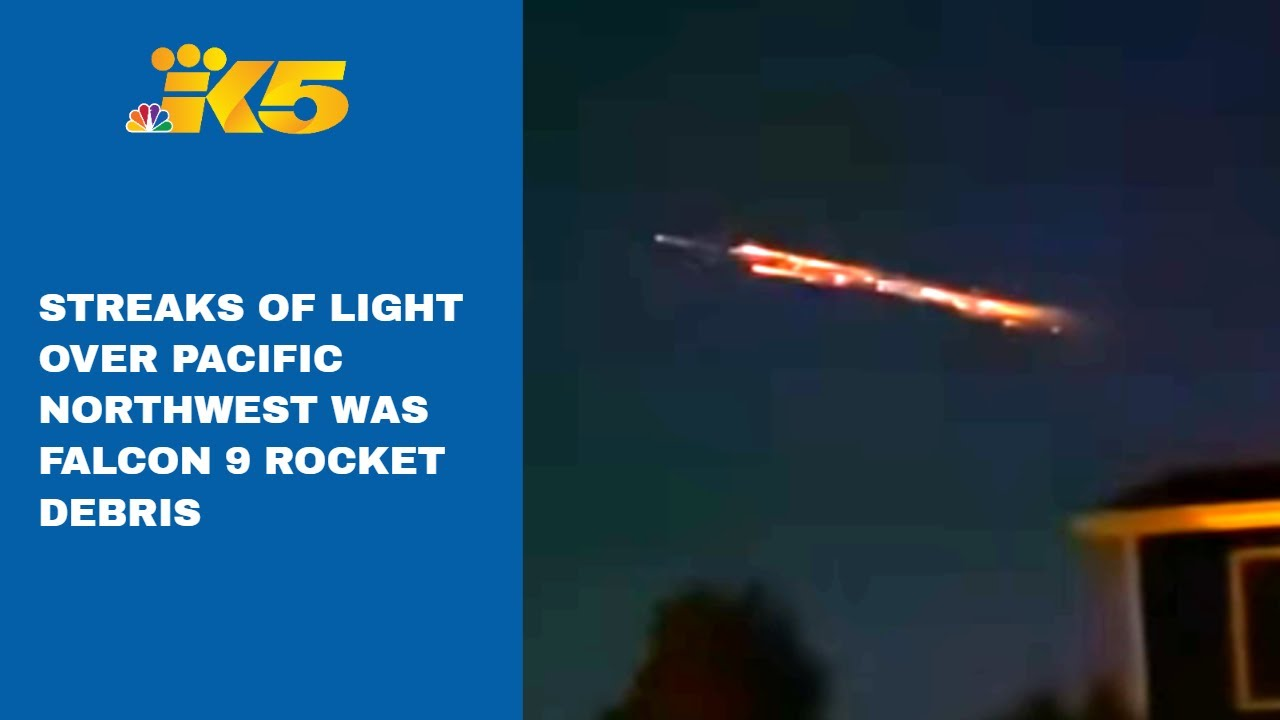 'Meteor shower' seen in Washington was debris from SpaceX rocket ...