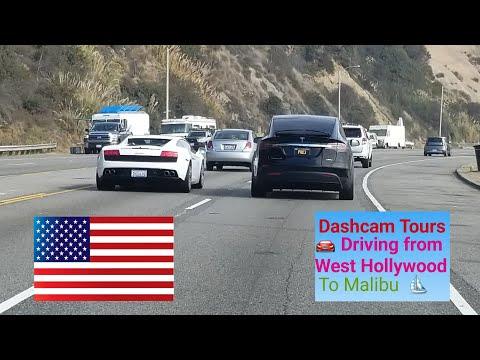 Best Dash Cam Tour Ever 🚘 Driving Through West Hollywood, Bel Air, Brentwood, Malibu & Venice Beach