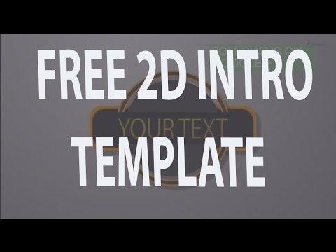 free 2d intro template after effects cs6 2d intro template no plugins required youtube. Black Bedroom Furniture Sets. Home Design Ideas