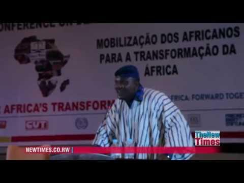 PanAfrican Trade Union Representatives sing PanAfrican hymn