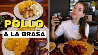 Classic Peruvian Food - Eating Pollo a la Brasa at Pardos Chicken in Lima, Peru