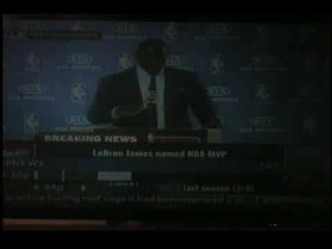 Lebron James 2008-2009 NBA Most Valuable Player
