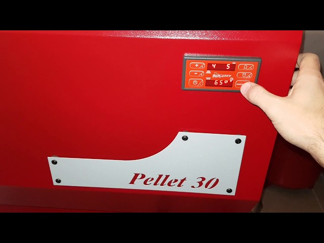 Functionare centrala Pellet 30 in treapta 5 de putere