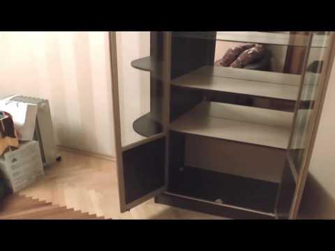 Угловой шкаф купе для гостиной