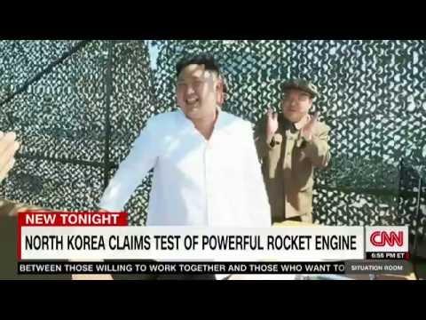 North Korea rocket engine test!! kim jong un