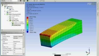 Using ANSYS Workbench 12 to analyze the bending stress of a cantilevered beam