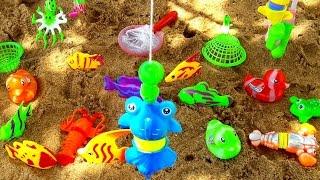 Mainan Pancing Pancingan Ikan di Pantai 💖 Mancing Mancingan Mainan 💖 Let's Play Jessica Jenica 💖