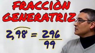 Aprende matemáticas: Pasar de decimal a fracción. Fracción generatriz.
