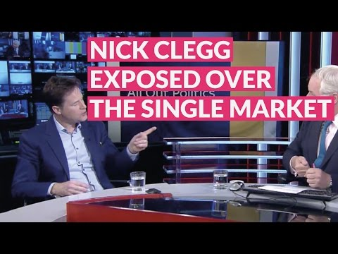 Nick Clegg exposed over the Single Market