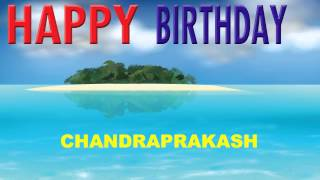 Chandraprakash   Card Tarjeta - Happy Birthday