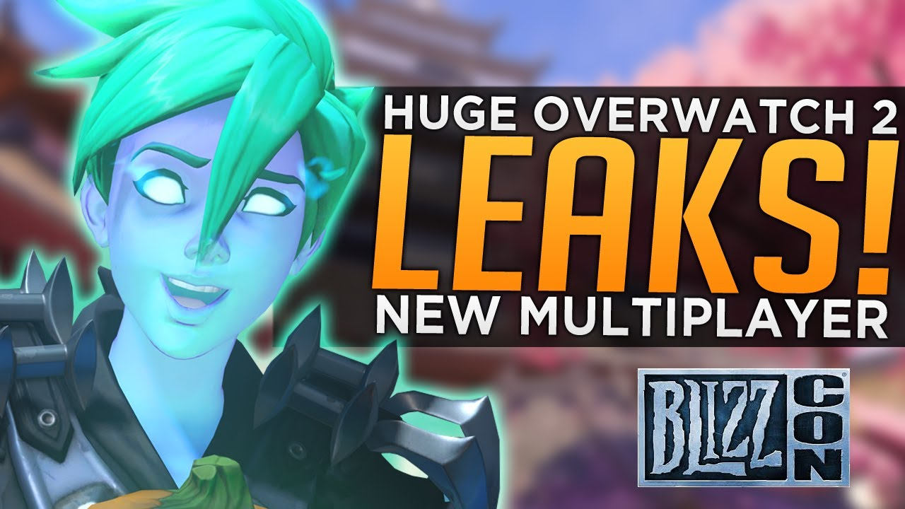 HUGE Overwatch 2 LEAKS! - NEW Multiplayer, NO Hero at Blizzcon thumbnail