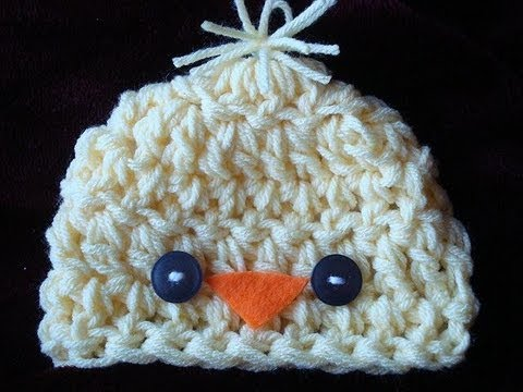 Crochet A Little Chick Hat Youtube