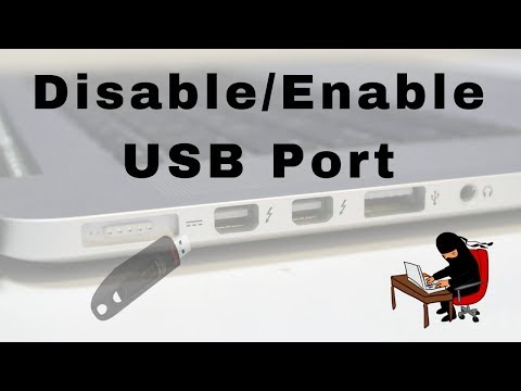 HOW TO DISABLE OR ENABLE USB PORT IN LAPTOP OR PC