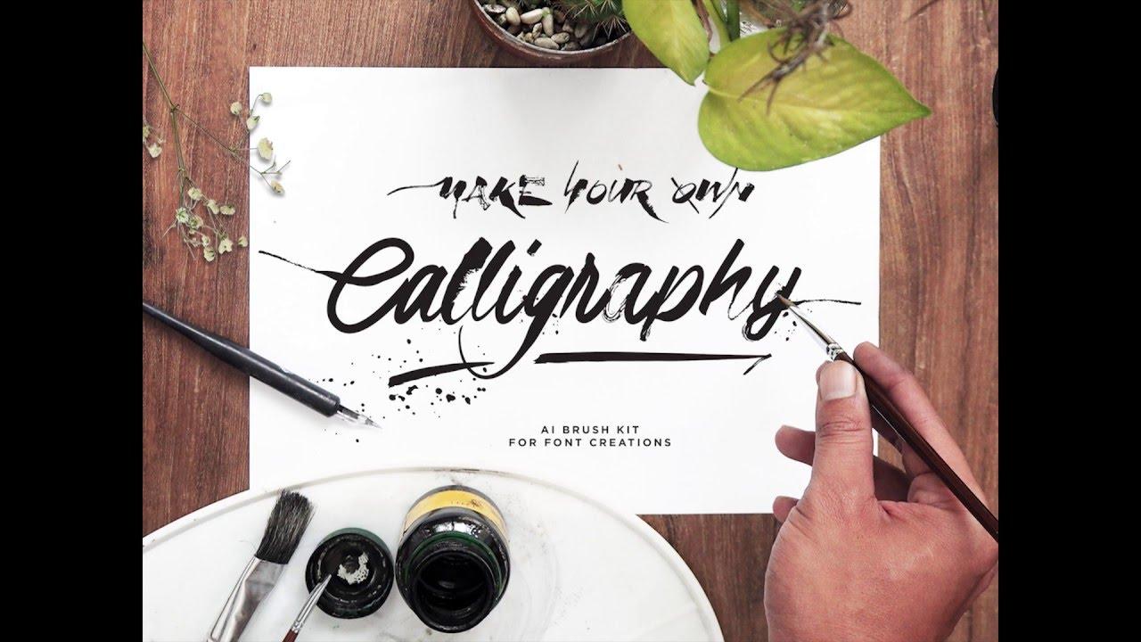 Calligraphic brush adobe illustrator youtube