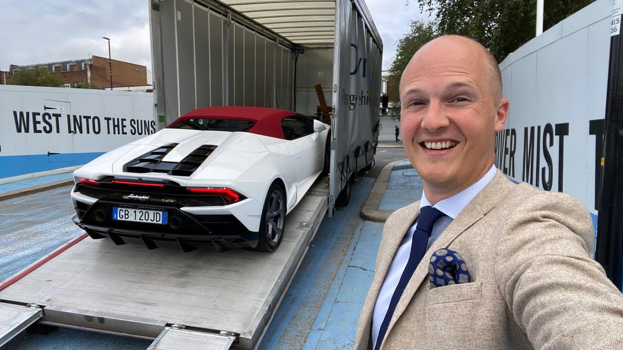 Taking Delivery Of A Lamborghini Huracan EVO Spyder