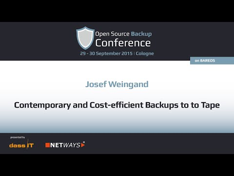 OSBConf 2015 | Contemporary and cost efficient backups to to tape by Josef Weingand