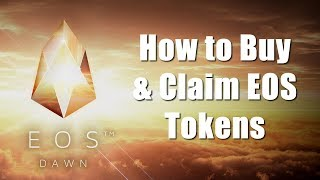 How To Buy & Claim EOS Tokens Using The Ethereum Wallet