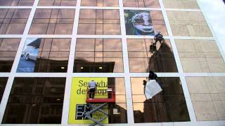 """Florida Museum of Photographic Arts New Building """"Teaser"""" Graphic Installation"""