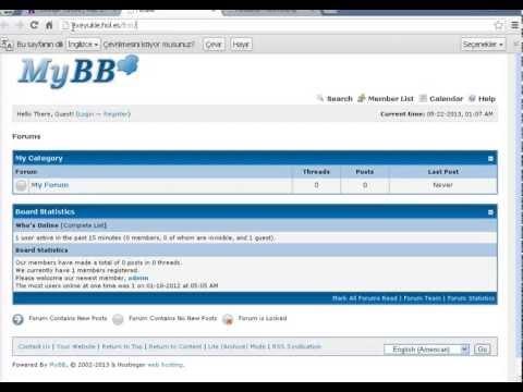 Mybb Forum Kurmak 3 Dakikada Sesli Anlatım