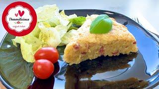 Herzhafter Kartoffelpuffer-Kuchen mit Speck & Käse | Thermomix® TM5/TM6 | Thermilicious
