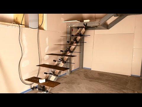 Single stringer stair treads