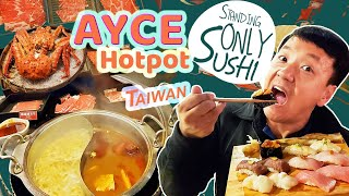 STANDING ONLY SUSHI | BEST Seafood Market & ALL YOU CAN EAT HOTPOT in Taipei Taiwan
