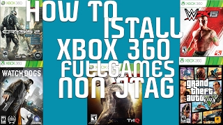 How To Install Xbox 360 Full Games Non Jtag Usb
