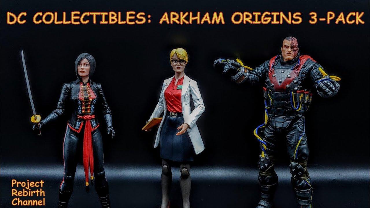 DC COMICS Batman Arkham Orígenes Harleen Electrocutioner /& Shiva 3PK figura Set