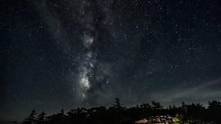 170813 奈良県大台ケ原 駐車場からの星景 天の川 Time Lapse 4K