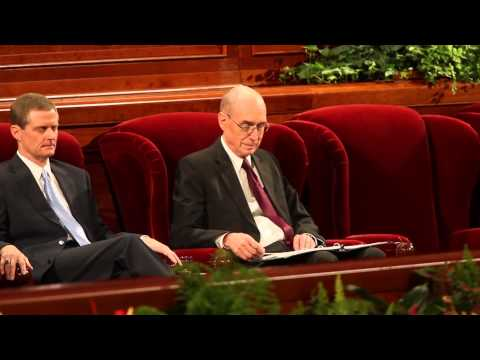 "President Eyring laughs at ""Thomas S Monson"""