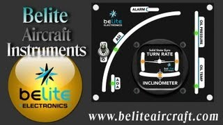 Belite Aircraft Instruments, Belite Airspeed Indicator, VSI, AOA, turn and bank, G meter.