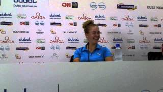 Charley Hull ahead of the 2013 Omega Dubai Ladies Masters