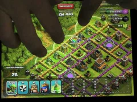 Just 220 Max Goblins And Max Jump Spell In Clash Of Clans