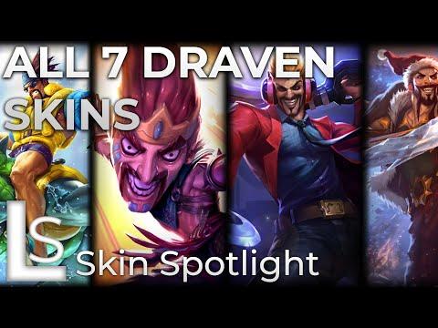 ALL DRAVEN SKINS - Skin Spotlight - League of Legends - Patch 9.23