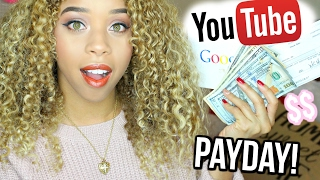 First YOUTUBE PAYCHECK! I