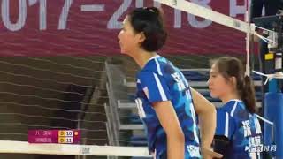 2017-2018 China Volleyball League  2nd Round YUAN Xinyue Highlights
