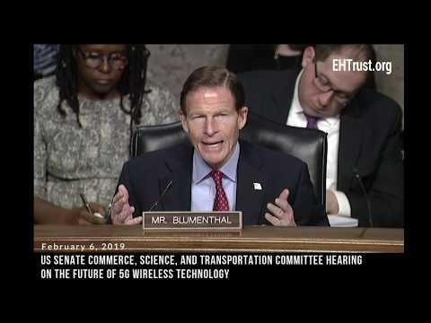US Senator Blumenthal Raises Concerns on 5G Wireless Technology Health Risks at Senate Hearing