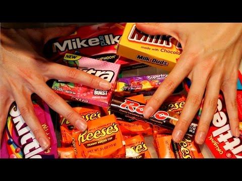 Binaural ASMR ♥ Trying US Candy (Whispered & Soft Spoken)
