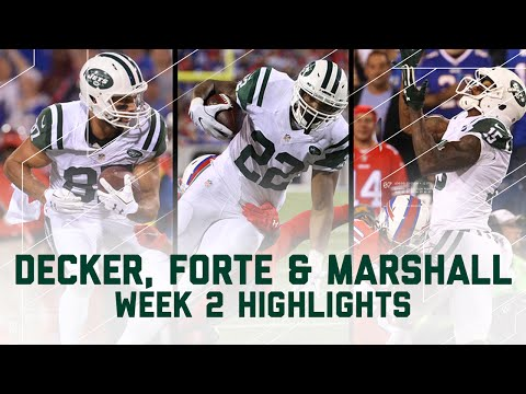 Matt Forte, Brandon Marshall, Eric Decker Combine for 327 Yards & 4 TDs | NFL Wk 2 Player Highlights