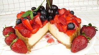 Чизкейк с клубникой. Простой рецепт 12+ | Cheesecake with strawberry.  Easy recipe 12+