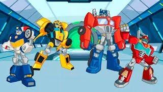 Optimus Prime y los Transformers Rescue Bots en Español para Niños Pequeños   Videos Infantiles