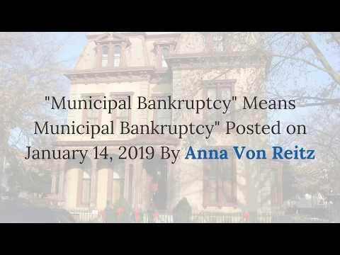 Municipal Bankruptcy Means Municipal Bankruptcy