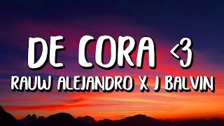 Rauw Alejandro x J Balvin - De Cora (Letra/Lyrics) cмотреть видео онлайн бесплатно в высоком качестве - HDVIDEO