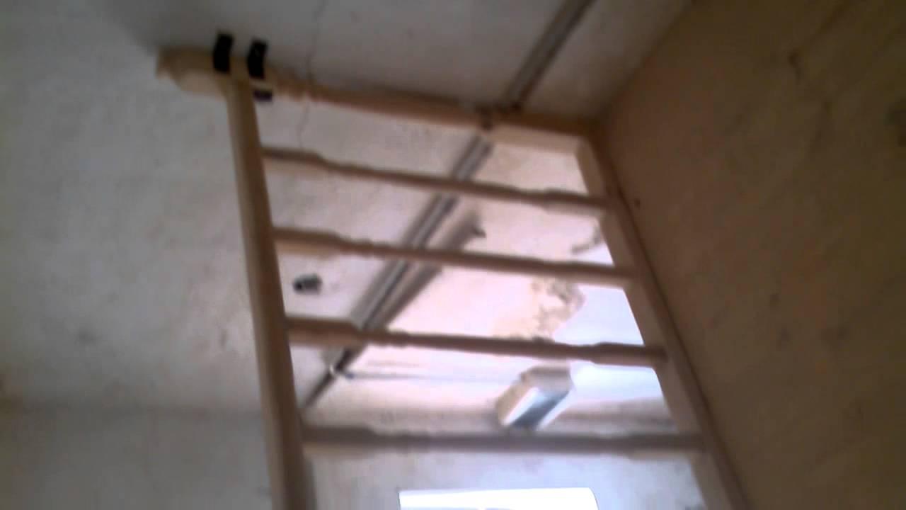 Entrepiso de madera escalera con descanso youtube for Escalera de madera para entrepiso