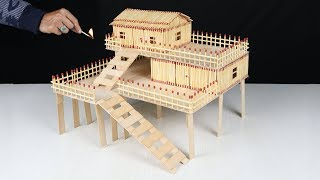 How to Make Matchstick House at Home | Match House Fire