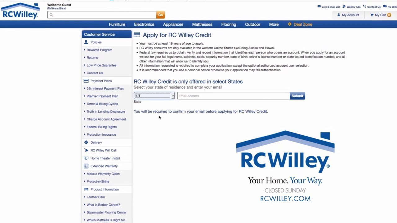 Instant Credit Available At RC Willey