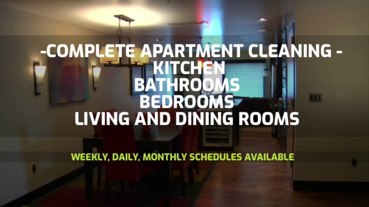 Apartment Cleaning Services Chicago - Quick Cleaning - YouTube