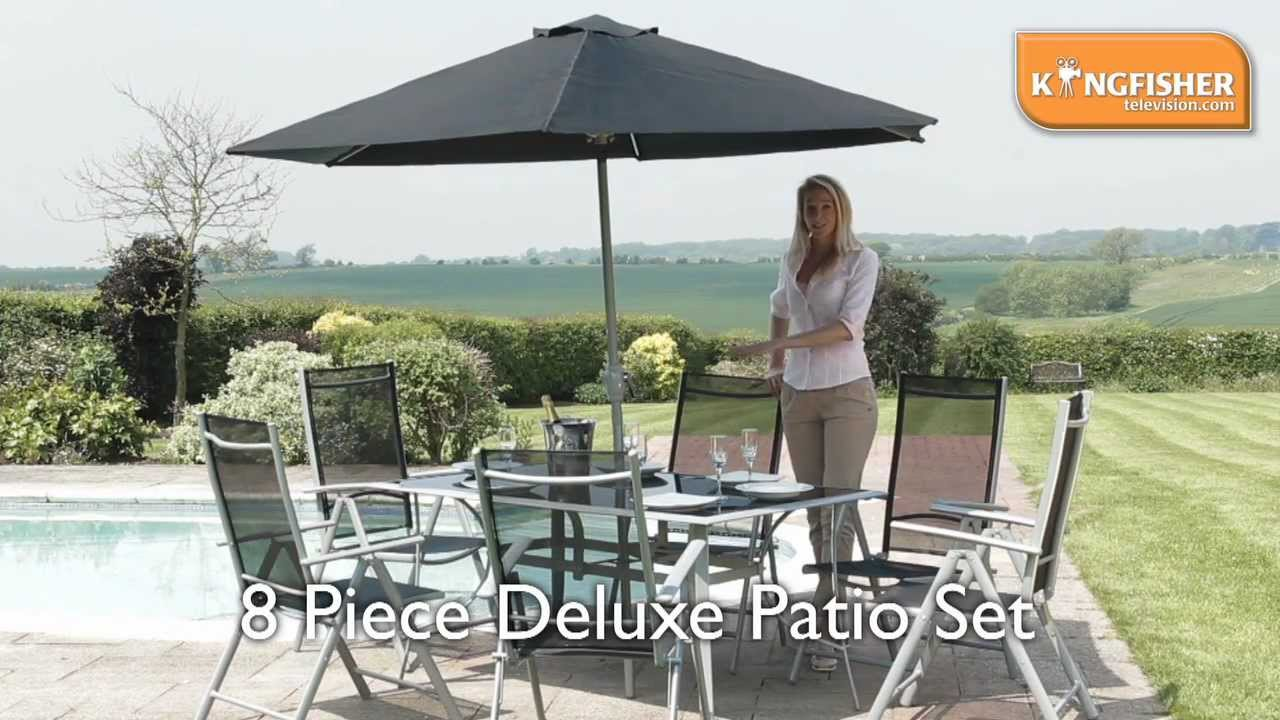 Kingfisher 8 Piece Deluxe Patio Set